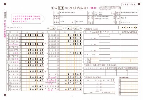 【申告書用紙】|国税庁 - nta.go.jp